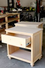 How To Build DIY Nightstand Bedside Tables wood working