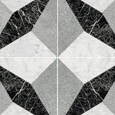 Texture Seamless Illusion Black White Marble Floor Tile