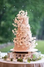 Cakes & Desserts s Cherry Blossom Wedding Cake Inside Weddings