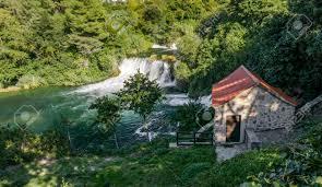 100 Water Fall House A House Near The Krka Fall In Croatia