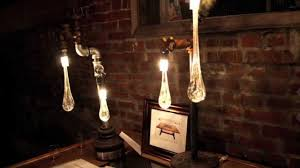 artistic industrial themed liquid lights