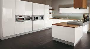 Contemporary And Plush Modern White Kitchen Design Idea With Ultra Minimalist Layout Dark Brown Floor