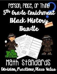 Black History Month Math 5th Grade Worksheets Bundle Common Core