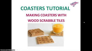 how to diy personalized coasters wood scrabble letters coaster