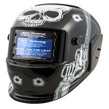Titan Garages And Sheds by Titan Auto Darkening Welding Helmet With Skull And Pistols Design