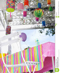 Decorated Outdoor Table After Birthday Party Stock Photo - Image ... Backyards Awesome Decorating Backyard Party Wedding Decoration Ideas Photo With Stunning Domestic Fashionista Al Fresco Birthday Sweet 16 Outdoor Parties Images About Paper Lanterns Also Simple Garden Rainbow Take 10 Tricia Indoor Carnival Theme Home Decor Kid 39s Luau Movie Night Party Ideas Hollywood Pinterest Design Deck Kitchen Architects Deck Decorations For Anniversary