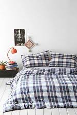 urban outfitters plaid duvet covers bedding sets ebay