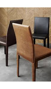 100 Black Leather Side Dining Chairs Crate And Barrel Chair Best Home Chair Decoration