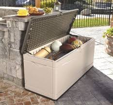 Rubbermaid Patio Storage Bench by 125 Best Deck Storage Boxes Images On Pinterest Deck Box