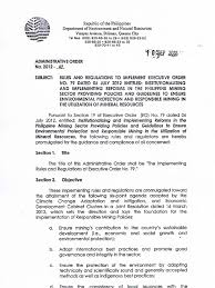 Cabinet Agencies Of The Philippines by Executive Order 79 Implementing Rules And Regulations Irr