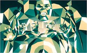 Green Geometric Pattern Avengers Bedroom Area Rug – Superhero Sheets