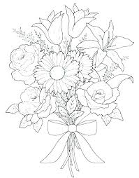Coloring Pages For Of Flowers Images Flower Power