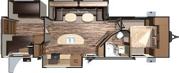 Travel Trailer Floor Plans With Bunk Beds by 2016 Light Travel Trailers Lt308bhs By Highland Ridge Rv