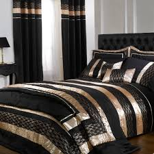 Bed Cover Sets by Cascade Black Gold Midnight Double Duvet Cover Set Double Duvet