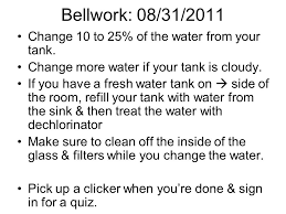 Cloudy Water From Sink by Bellwork 09 03 2013 Don U0027t Forget To Take Ph Temperature And