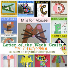 Letter Of The Week Crafts For Preschoolers Crystalandcomp