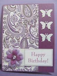 I made this butterfly happy birthday card for my friend who has a birthday this week Her favorite color is purple