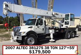 Altec AC38-127S 38-Ton Boom Truck Crane For Sale Trucks & Material ... Big Rig Truck Market Commercial Trucks Equipment For Sale 2005 Used Ford F450 Drw 31 Foot Altec Bucket Platform At37g Combo Australia 2014 Freightliner Altec Boom Crane For Auction Intertional Recditioned Bucket Truc Flickr Bucket Truck With A Big Rumbling Diesel Engine Youtube Wiring Diagram Parts Wwwjzgreentowncom Ac38127s X68161 Unveils Tough New Tracked Lift And Access Am At 2010 F550 Ta37g C284 Monster 2008 Gmc C7500 81 Gas 60 Boom Chip Dump Box Forestry