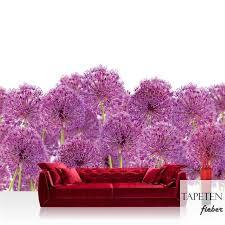 vlies fototapete no 4520 natur tapete blumen knoblauch blume küche lila lila