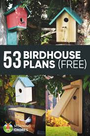 Decorative Bird Houses Garden 53 Diy House Plans That Will Attract Them To Your