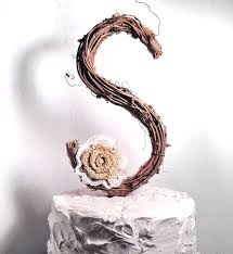 Letter S Wedding Cake Topper Picture Rustic Twig 2225716