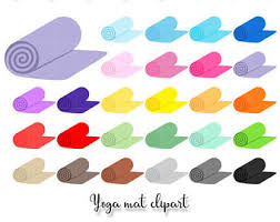 Clipart Collection Yoga Mat Rainbow PNG Graphics Set For Planner Stickers Scraps Personal