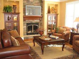 Brown Leather Sofa Decorating Living Room Ideas by Living Room Stunning Small Living Room Design With White