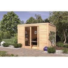 abri de jardin bois 9 85 m2 28 mm forme carré cubus front