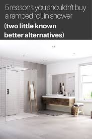 red roll in shower alternatives rooms solid surface