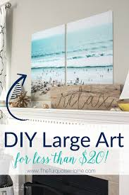 DIY Large Art For Less Than 20 Using Color Engineering Prints