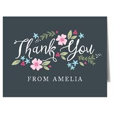Garden Flowers Thank You Cards