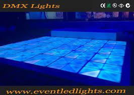 dj disco panel dmx tile portable 3d toughened glass light up led
