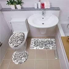 badematten set rund wc vorleger wc deckelbezüge 3 teilig