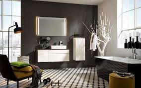 bathroom cabinets handleless white storage space nolte