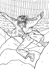 Harry Potter Coloring Page Of Quidditch Printable Pages
