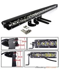 30 150w 12000 lumen cree led road single row slim light bar
