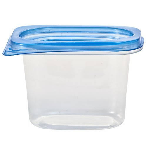 Nicole Home Collection Containers - with Lids, Clear, Rectangular, 15oz, 5ct