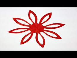 Paper Cutting How To Make Easy Simple Flower Design Kirigami Tutorials