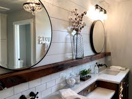 fixer inspired modern farmhouse country bathroom