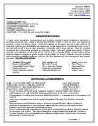 Sample Resume For Government Position Writing Services Rural Career Center State