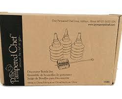 amazon com the pered chef decorator bottle set 1585 icing