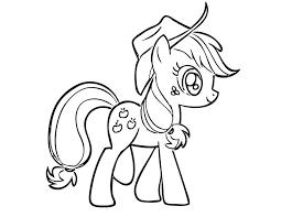 Coloring Pages Applejack Print Little Pony