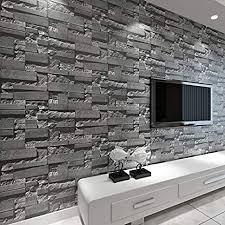 baporee stein tapete des ziegelstein 3d gestapelt moderne wandverkleidung pvc rollen tapete ziegel wand hintergrund tapete grau für wohnzimmer 5 3