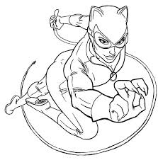 Online For Kid Catwoman Coloring Page 78 With Additional Picture