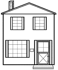 Printable Coloring Pictures Of Houses