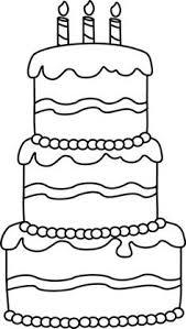 Black and White Big Birthday Cake Clip Art Black and White Big Birthday Cake Image