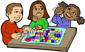 Groups Playing Board Games Clipart