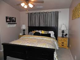 Yellow And Gray Bedroom Home Pleasant Cheap
