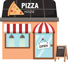 Pizza Restaurant Vector Art Illustration