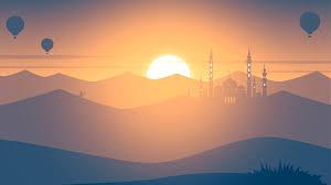 100 Minimalist Landscape Mosque Sunset 4K 2556